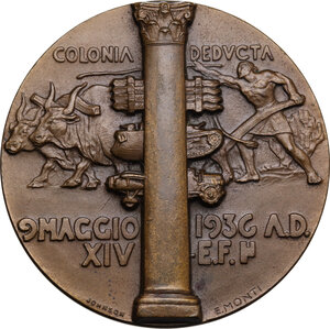 reverse: Medaglia A. XIV 1936, Vittorio Emanuele III Re d Etiopia