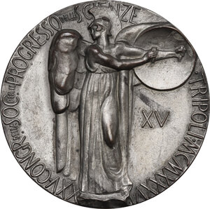 obverse: Medaglia A. XV, per il XXV Congresso della Società per il Progresso delle Scienze, Tripoli 1936