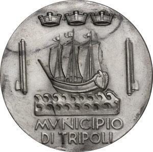 reverse: Medaglia A. XV, per il XXV Congresso della Società per il Progresso delle Scienze, Tripoli 1936