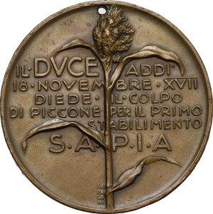 reverse: Medaglia 18 novembre A. XVII per il Primo Stabilimento S.A.P.I.A