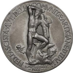 reverse: Medaglia Federazione Fascista delle Comunità Artigiane d Italia