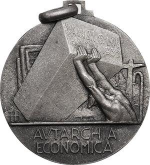 obverse: Medaglia Federazione Fascista degli Industriali per l autarchia Economica a seguito delle sanzioni del 18 Novembre 1935