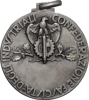 reverse: Medaglia Federazione Fascista degli Industriali per l autarchia Economica a seguito delle sanzioni del 18 Novembre 1935
