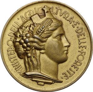 obverse: Medaglia premio del Ministero dell Agricoltura e delle Foreste, Al Merito delle Piante Officinali