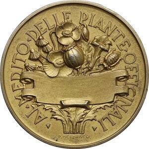 reverse: Medaglia premio del Ministero dell Agricoltura e delle Foreste, Al Merito delle Piante Officinali