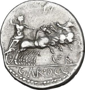 reverse: Gargilius, Ogulnius and Vergilius. . AR Denarius, 86 BC