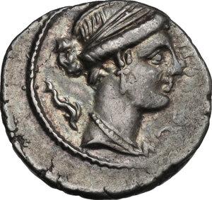 obverse: P. Plautius Hypsaeus.. AR Denarius, 60 BC