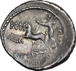 reverse: P. Plautius Hypsaeus.. AR Denarius, 60 BC
