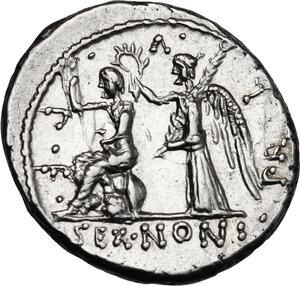 reverse: M. Nonius Sufenas.. AR Denarius, 59 BC