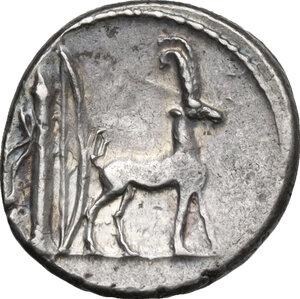 reverse: Cn. Plancius.. AR Denarius, 55 BC