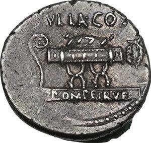 reverse: Q. Pompeius Rufus. AR Denarius, 54 BC