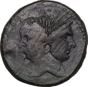 obverse: Sextus Pompeius Magnus Pius.. AE As, c. 42-38 BC. Sicily