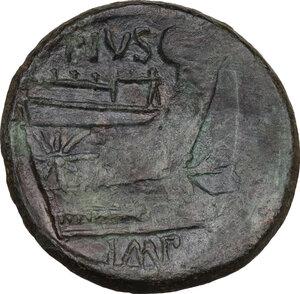 reverse: Sextus Pompeius Magnus Pius.. AE As, c. 42-38 BC. Sicily