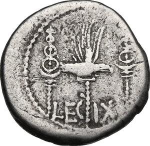 reverse: Mark Antony.. AR Denarius, 32-31 BC