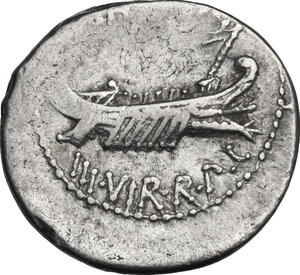obverse: Mark Antony.. AR Denarius, 32-31 BC