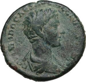 obverse: Commodus as Caesar (175-177).. AE As, struck under Marcus Aurelius, 176 AD