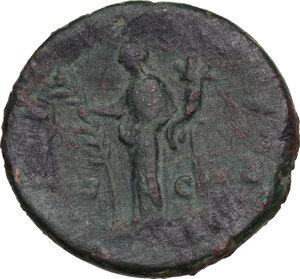 reverse: Commodus as Caesar (175-177).. AE As, struck under Marcus Aurelius, 176 AD