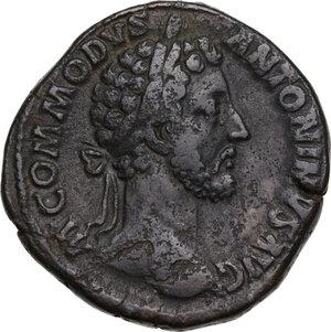 obverse: Commodus (177-193).. AE Sestertius, 182 AD