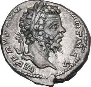 obverse: Septimius Severus (193-211).. AR Denarius, 200 AD