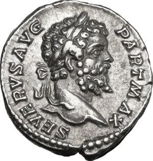 obverse: Septimius Severus (193-211).. AR Denarius, c. 200-201