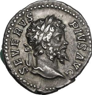 obverse: Septimius Severus (193-211).. AR Denarius, 202-203