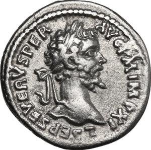obverse: Septimius Severus (193-211).. AR Denarius, Laodicea ad Mare, 198