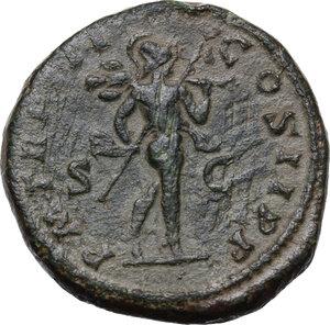 reverse: Septimius Severus (193-211) . AE Dupondius, 195 AD