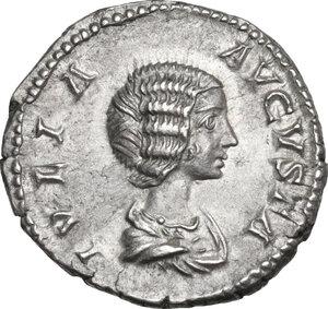 obverse: Julia Domna, wife of Septimius Severus (died 217 AD).. AR Denarius. Rome mint. Struck under Septimius Severus, 200-207 AD