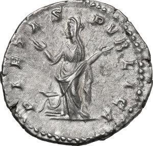 reverse: Julia Domna, wife of Septimius Severus (died 217 AD).. AR Denarius. Rome mint. Struck under Septimius Severus, 200-207 AD