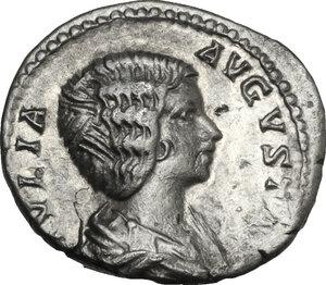 obverse: Julia Domna, wife of Septimius Severus (died 217 A.D.).. AR Denarius
