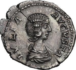 obverse: Julia Domna, wife of Septimius Severus (died 217 AD).. AR Denarius, 196-211