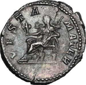 reverse: Julia Domna, wife of Septimius Severus (died 217 AD).. AR Denarius, 196-211