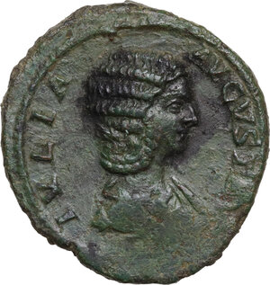 obverse: Julia Domna, wife of Septimius Severus (died 217 AD).. AE As, 196-211