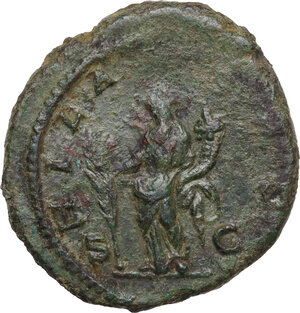 reverse: Julia Domna, wife of Septimius Severus (died 217 AD).. AE As, 196-211