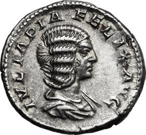 obverse: Julia Domna, wife of Septimius Severus (died 217 AD).. AR Denarius, struck under Caracalla