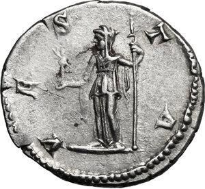 reverse: Julia Domna, wife of Septimius Severus (died 217 AD).. AR Denarius, struck under Caracalla