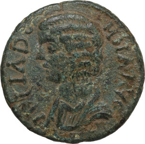 obverse: Julia Domna, wife of Septimius Severus (died 217 AD).. AE 22 mm. Parlais mint, Pisidia