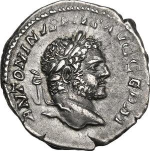 obverse: Caracalla (198-217).. AR Denarius, 215 AD