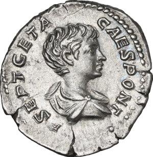 obverse: Geta as Caesar (198-209).. AR Denarius, Rome mint, 201 AD