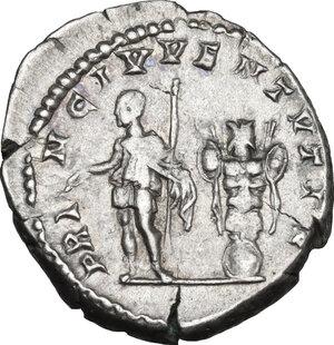 reverse: Geta as Caesar (198-209).. AR Denarius, Rome mint, 201 AD