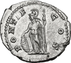 reverse: Geta as Caesar (198-209).. AR Denarius, 202 AD