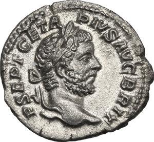 obverse: Geta (209-212).. AR Denarius, 211 AD