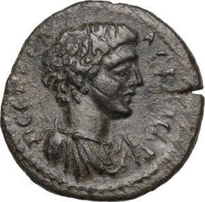 obverse: Geta as Caesar (198-209).. AE 19 mm. Apollonis mint, Lydia