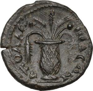 reverse: Geta as Caesar (198-209).. AE 19 mm. Apollonis mint, Lydia