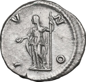 reverse: Julia Maesa, sister of Julia Domna (died 225 AD).. AR Denarius, struck under Elagabalus, 218-220 AD