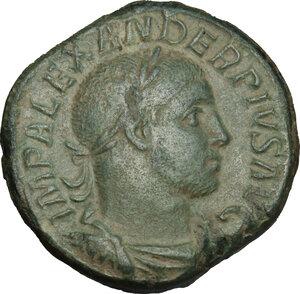 obverse: Severus Alexander (222-235 AD).. AE Sestertius, 223 AD