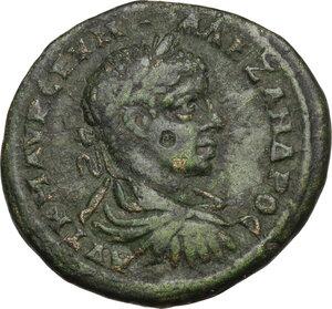 obverse: Severus Alexander (222-235).. AE 26 mm. Marcianopolis mint, Moesia Inferior. Umbrius Terebentinus, magistrate