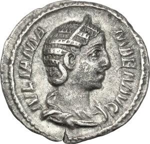obverse: Julia Mamaea, mother of Severus Alexander (died 235 AD).. AR Denarius