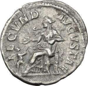 reverse: Julia Mamaea, mother of Severus Alexander (died 235 AD).. AR Denarius