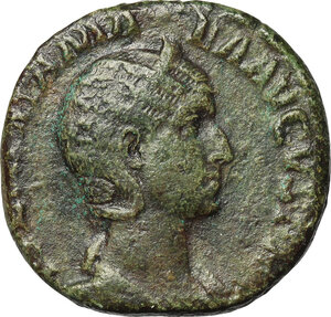 obverse: Julia Mamaea, mother of Severus Alexander (died 235 AD).. AE Sestertius